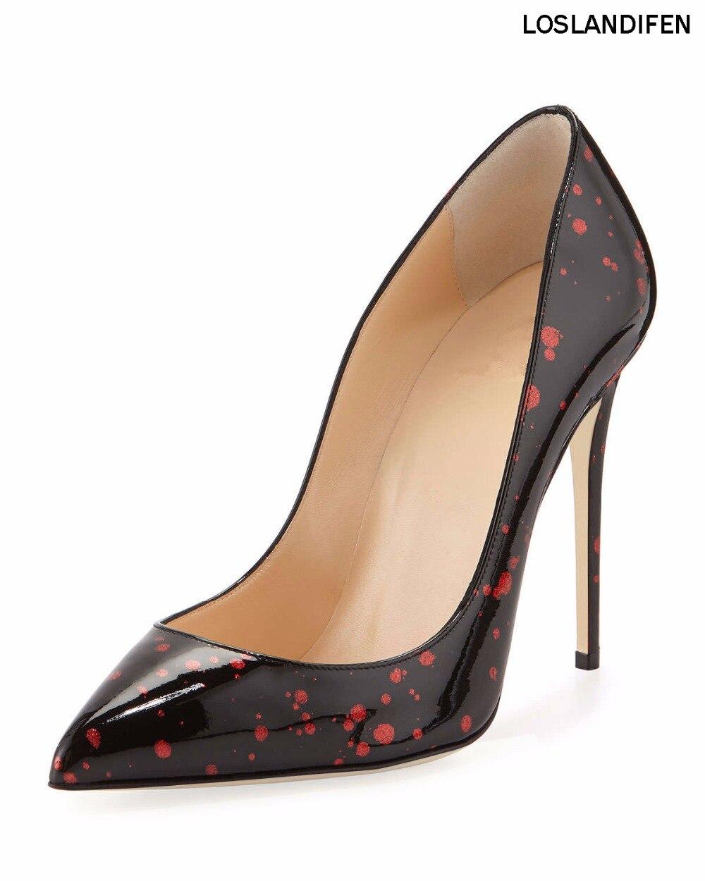 Schuhe Stil Neue Damen Party Cke100 Schlupf Handmade Fashion Frauen Prom Lackleder Pumpt Hochzeit An 2018 OpqdwO