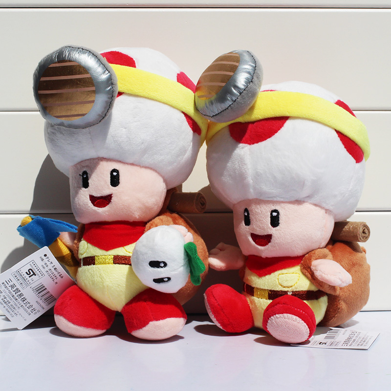 United Super Mario Captain Toad Treasure Tracker Plush Toys Toad Plush Toy Stuffed Soft Doll With Tag 19-22cm 2styles Free Shipping Removing Obstruction Dolls Toys & Hobbies