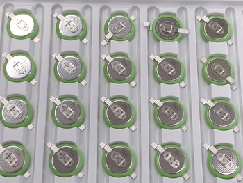 100pcs/lot New Original Battery For Panasonic BR1632A/FAN 3V with SMD Foot Button Wide Temperature BR1632A Batteries 125 Degree