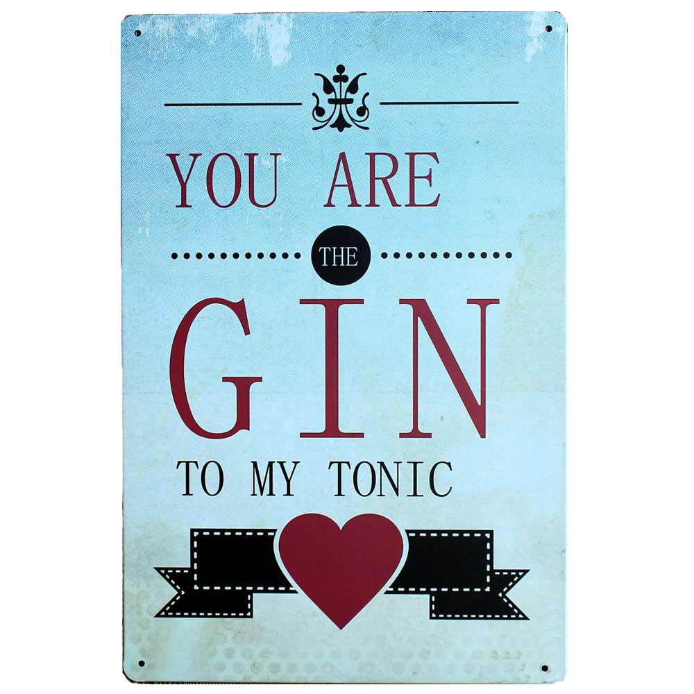 Buy gin metal signs and get free shipping on AliExpress.com