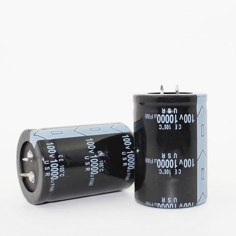 送料無料12ピース電解コンデンサ100ボルト10000 uf 10000 uf 100ボルト100v10000uf 35*50電解コンデンサ最高品質  グループ上の 電子部品 & 用品 からの コンデンサ の中 1