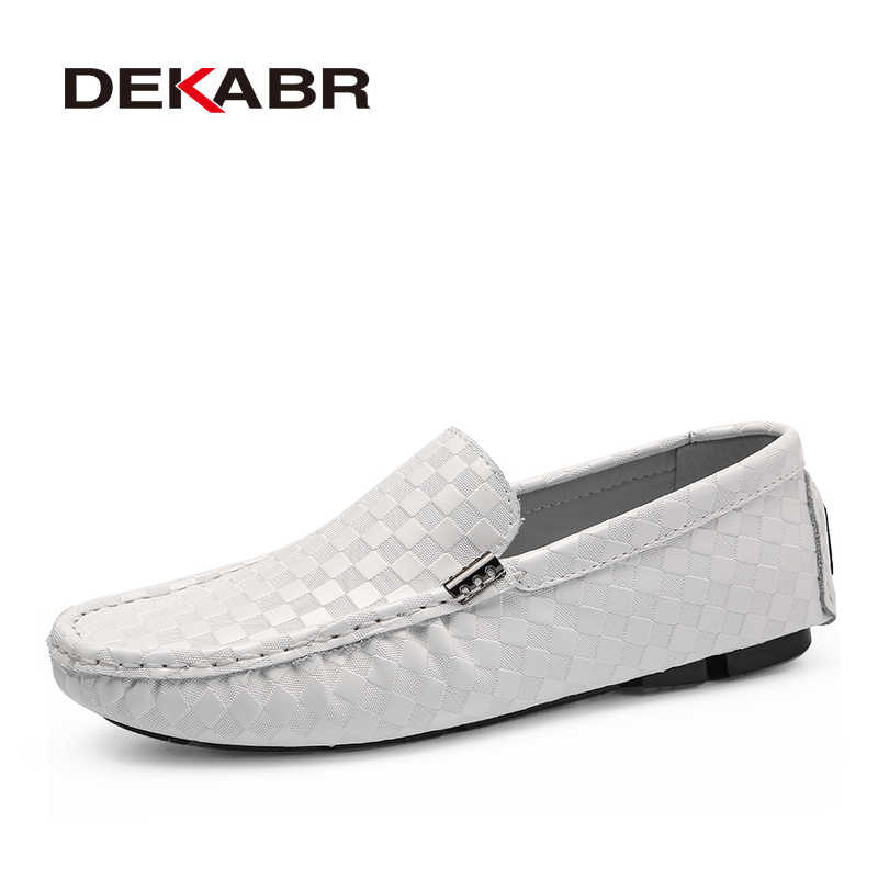 DEKABR High Quality Men's Shoes Fashion Comfortable Loafer Driving Shoes Boat Brand Flats Casual Shoes Men Large Size 38~47