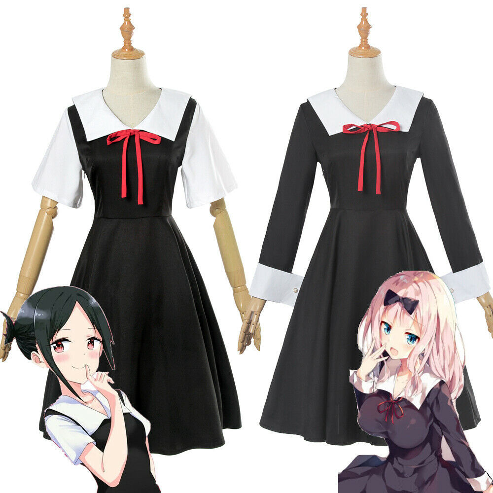 Аниме Кагуя-сама любовь-это война Fujiwara Chika Косплей Cotumes женщины девочки Униформа платье головной убор комплект наряд на заказ