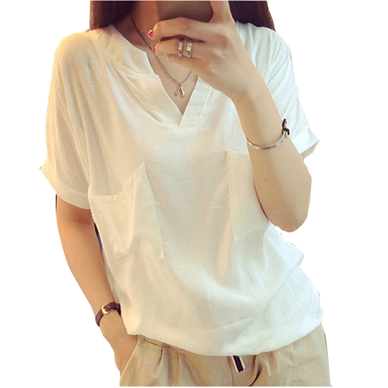 Popular White Linen Blouse-Buy Cheap White Linen Blouse lots from ...