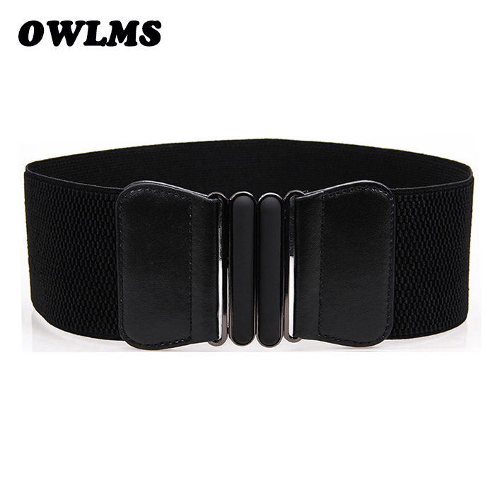 Free Shipping New Popular Fashion Cutout Gold Buckle Elastic Waist Belt Beauty Punk Cummerbunds Wide Cummerbund For Women Gifts