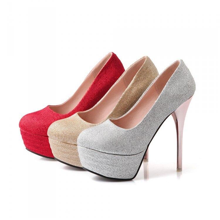 ФОТО Sapato Feminino Big Size High Heels Shoes Women Pumps Ladies Chaussure Femme Talon Zapatos Mujer Tacones Sapatos Femininos 3-8