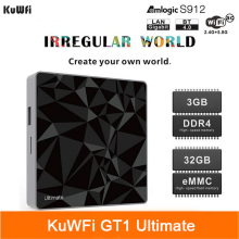 цена на KuWFi TV Box Android 7.1 Set Top Box DDR4 3G 32G Google Amlogic S912 Octa Core CPU 2.4G 5.8G Dual WiFi GT1 Ultimate Media Player