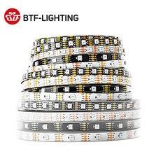 WS2813 светодио дный пикселей газа 1 М/4 м/5 м двойной сигнала 30/60/144 пикселей/светодио дный s/m, WS2812B обновленный черный/белый PCB, IP30/IP65/IP67 DC5V