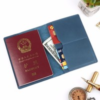 2018 новые оригинальные Crazy Horse кожаная обложка для паспорта одноцветное кредитных ID Card Case Держатель Бизнес унисекс дорожный кошелек