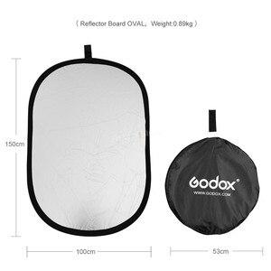 Image 3 - Портативный Овальный многодисковый отражатель Godox 2 в 1 100x150 см, складной рассеиватель света для фотостудии, фотокамеры