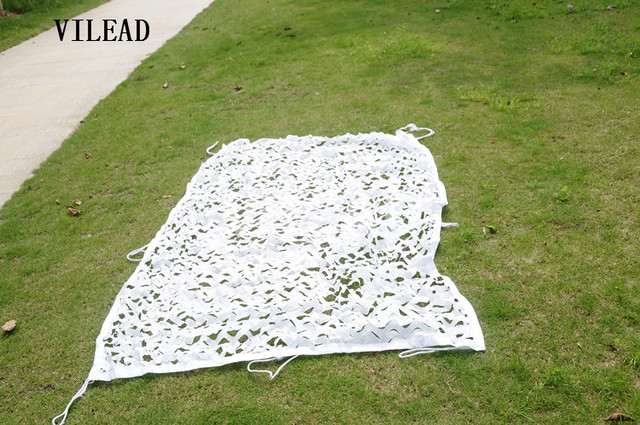 VILEAD 2M x 5M (6.5FT x 16.5FT) Snow White Digital Camouflage Net Military Army Camo Net Sun Shelter for Hunting Camping Tent
