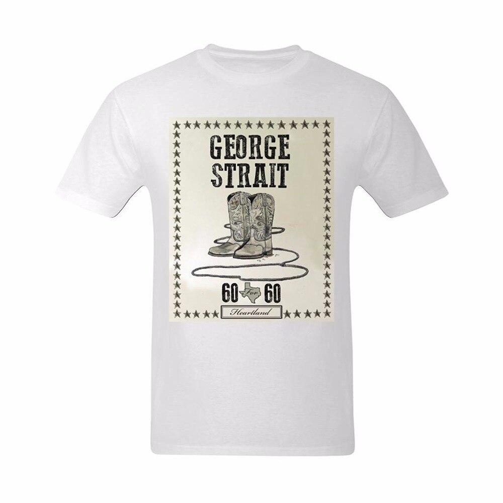 New Design T Shirt Men Brand Clothing Fashion George Strait Shoes Male Tshirts Fashion Print Pattern Brands T-shirt Mens