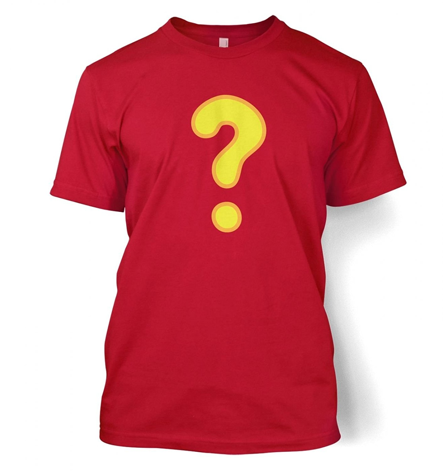 Tops Cool T Shirt MenS Short Cotton Crew Neck Gamer Geek Quest Question Mark Shirts