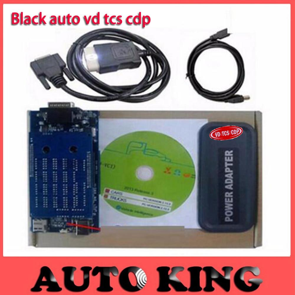 imágenes para Adaptador de corriente NEGRO vd-tcs cdp pro Plus con software 2015.1 + cable del led obd 2 para Coches y Camiones y Genérico 3in1 NO Bluetooth obd2