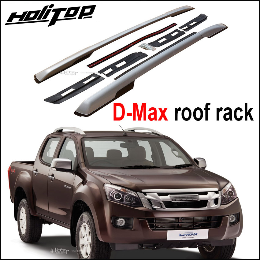 Новое поступление для Isuzu D-Max 2011-2018 крыша багажник железнодорожных крест бар на крыше, окисленного алюминия, установлен с помощью винтов, оче...
