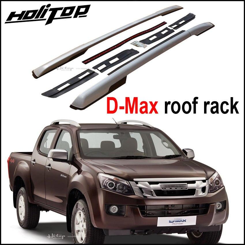 Nouvelle arrivée pour Isuzu D-max 2011-2018 toit rack rail de toit croix toit bar, oxydé en aluminium, installé par vis, très stable