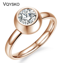 New Arrival for Europe and USA Can removable Crystal titanium steel rings Women