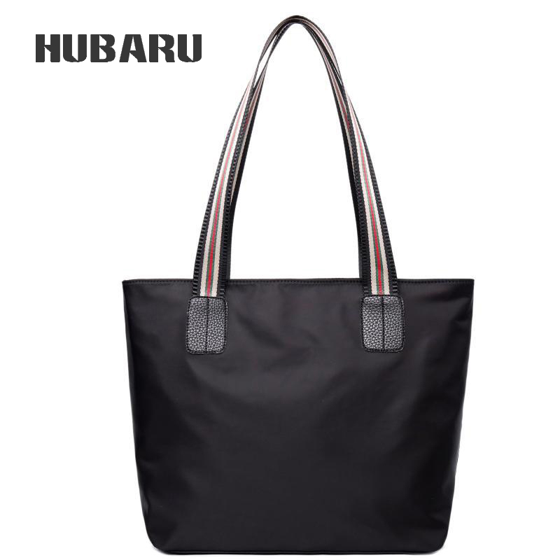 HUBARU moda gran capacidad bolsa de compras señoras Casual Tote Top-manija alta calidad Oxford bolso