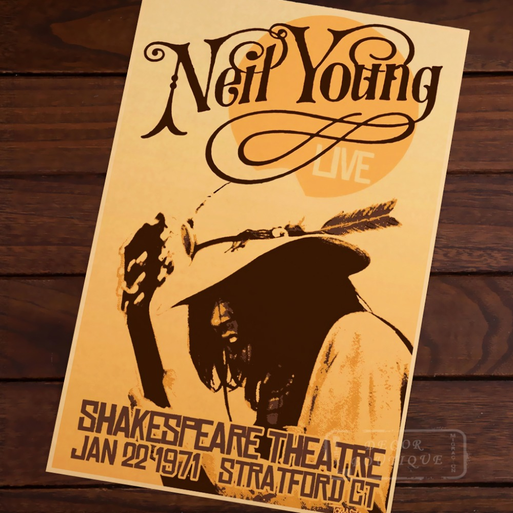 The Neil Young Music Class Vintage Retro Canvas Painting Poster DIY ...
