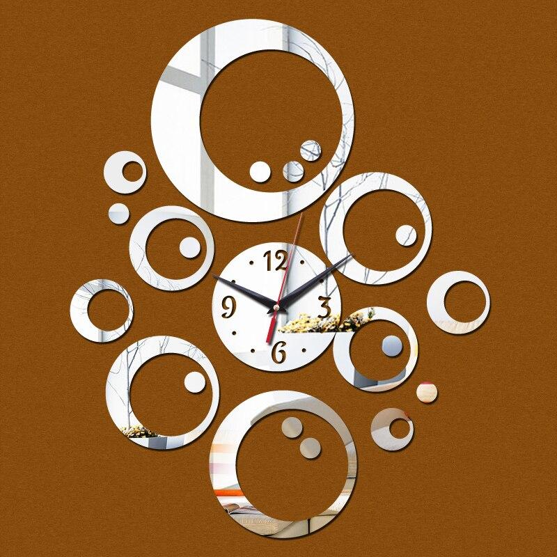 2017 nueva venta de 3d diy mirrior reloj relojes de pared reloj grande de decora