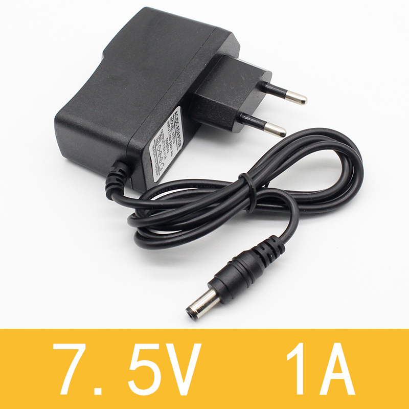 1pcs 7.5V 1A High quality AC 100V-240V Converter Switching power adapter DC 7.5V 1A 1000mA Supply EU Plug DC 5.5mm x 2.1mm kingwei 1pcs dc 16 8v 1a ac 100v 240v converter switching power adapter supply eu us uk plug charger for 18650 lithium battery
