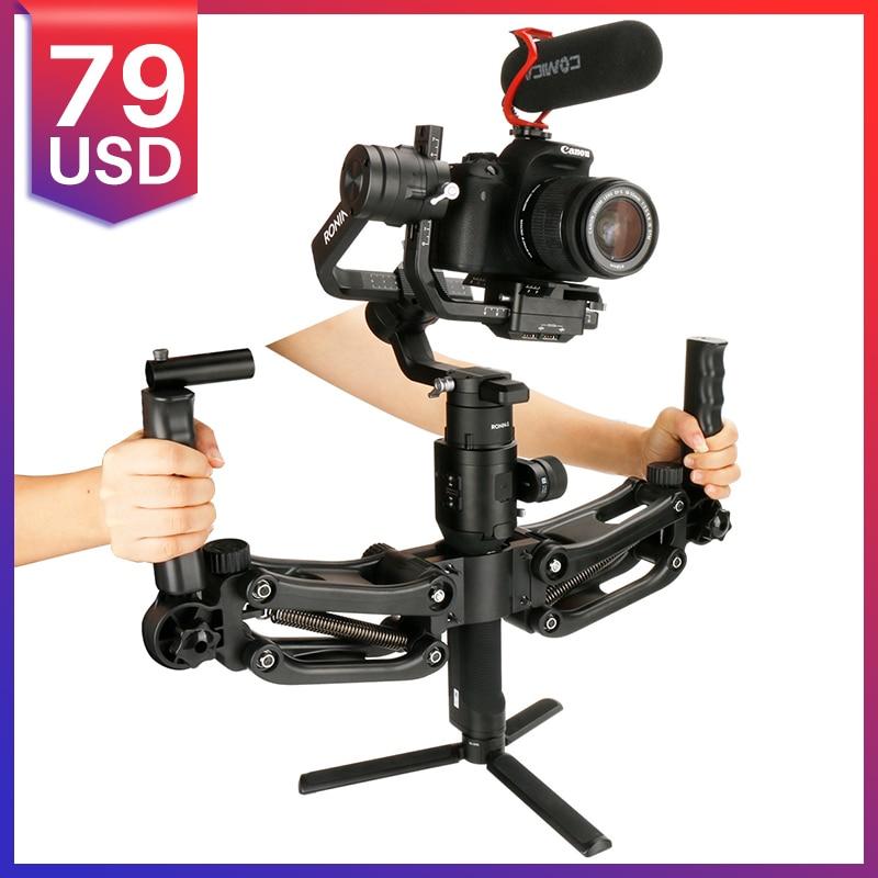 4 5KG Load 5 Axis Dual Hand Grips Stabilizer for Dji Ronin S Zhiyun Crane 2