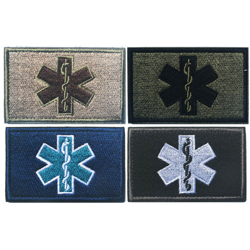 Entertainment Memorabilia Music Memorabilia Dependable Embroidery Patch Emergency Medical Technician Paramedic Emt Embroidered Patches Military Tactical Armband Hook&loop Badge Badges A Plastic Case Is Compartmentalized For Safe Storage