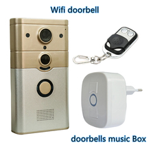 Freeship 720 P wi-fi беспроводной видеомонитор камеры широкоугольный motion detection alarm беспроводной дверной звонок для ios android телефон/таблетки