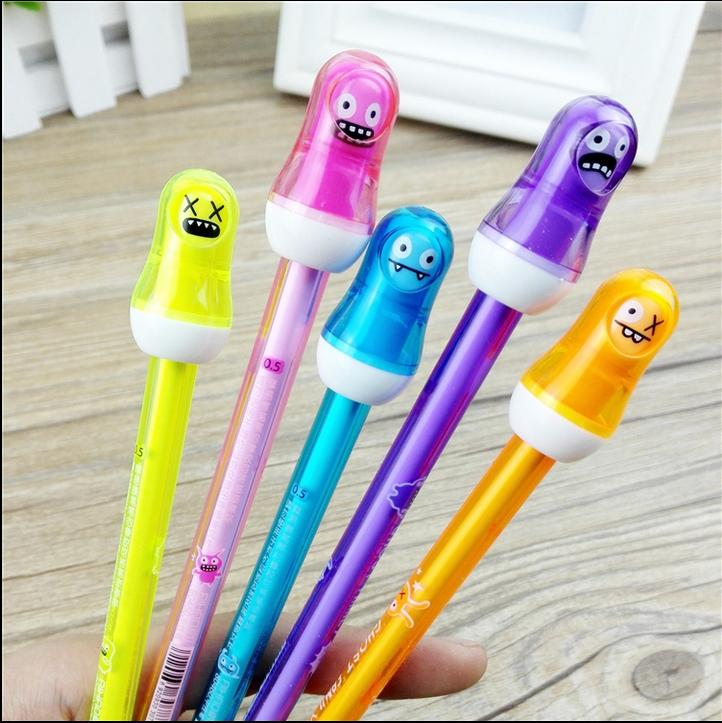 2015 New Arrival Magic Erasable Gel Ink Pen Novelty Doll Halloween Christmas Gift Korean Smooth Write High Quality Free Shipping