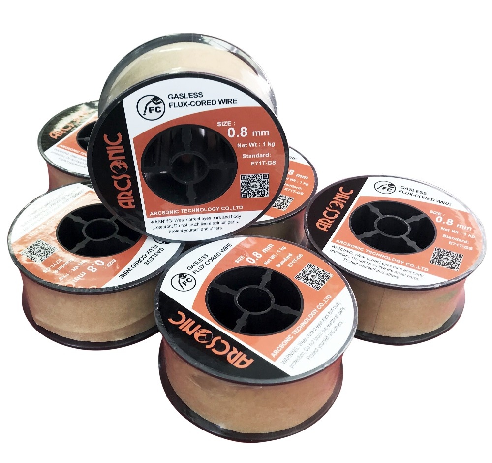 Mig Welding Wire, Flux Core, No Gas / Gasless Welding Wire, Wire Size: 0.8mm Standard: E71t-gs The Price For 1 Pc