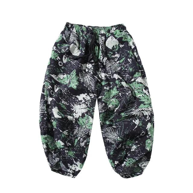 Men Calf-Length Harem Pants 2019 Male Casual Printing Joggers Pants Male Japanese Trousers Hip hop Sweatpants SA-8