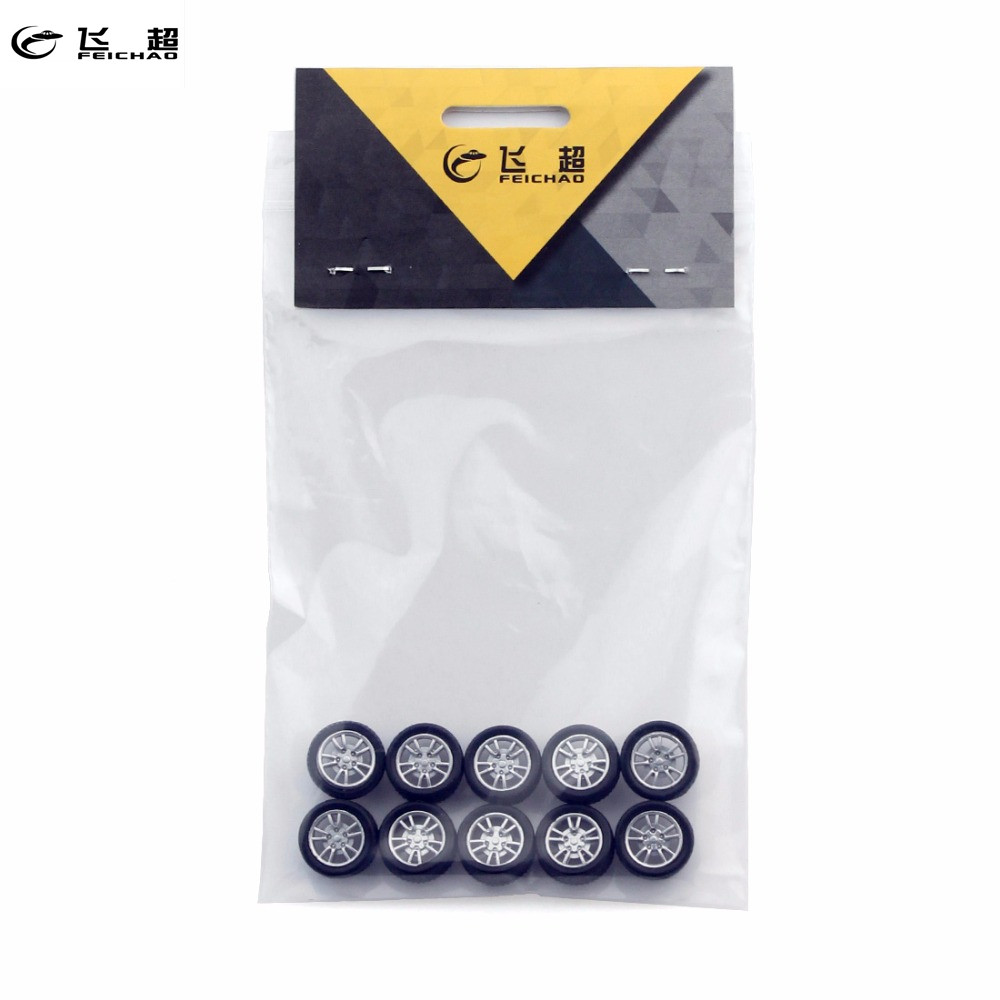 Feichao 10pcs 2*16mm Mini Rubber Wheels 4WD Wheel DIY Technology Small Production RC Model Accessories