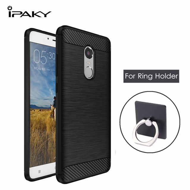 best loved 751c8 ccfa2 US $4.99 |iPaky for Xiaomi Redmi Note 4 MTK Case Cover Soft TPU Silicone  Cover Redmi Note 4 MeidaTek Case + Ring Holder Protective Shield-in Fitted  ...