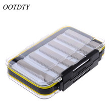 OOTDTY15.3×10.1×4.7cm Plastic Waterproof Fly Fishing Double Side Clear Slit Foam fly Fishing Box Fly Box Tackle Case Box #K105C#