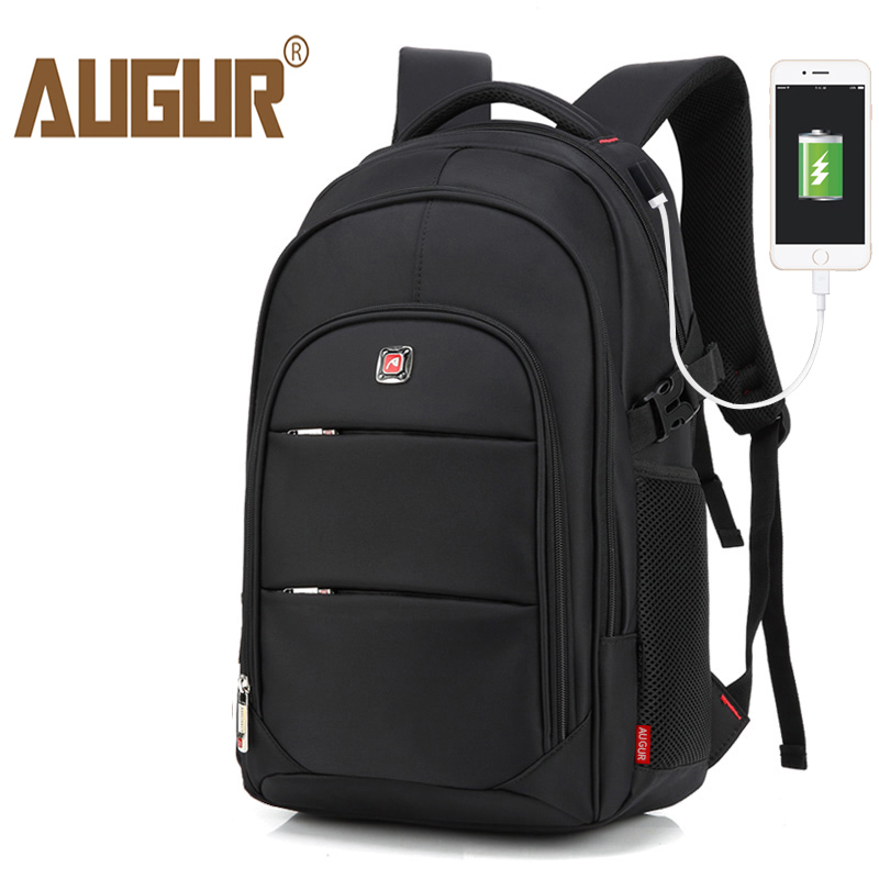 AUGUR Men Backpacks 17Inch Laptop USB Waterproof Back pack Travel Bag Oxford Women student back to School Bags For Teenagers dtbg backpack for men women 15 6 inch notebook laptop bags anti theft men s backpacks travel school back pack bag for teenagers