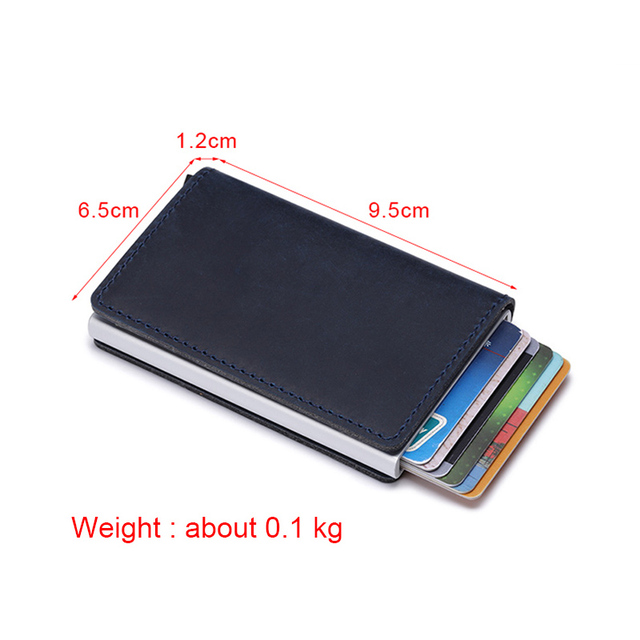 DIENQI Crazy Horse Leather Male Smart Wallet Rfid Card Holder Slim Wallet Secrid Small Magic Wallet Thin Men Purse Walet cuzdan