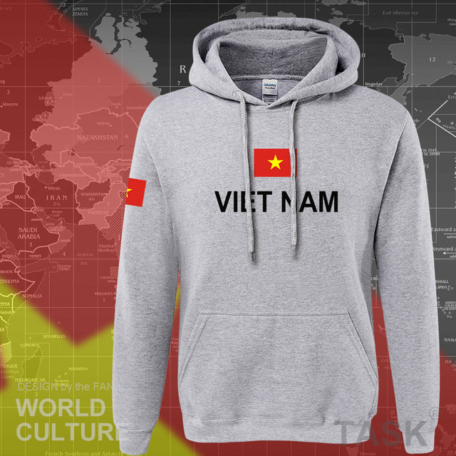 Vietnam hoodies men sweatshirt sweat new hip hop streetwear socceres jerseyes footballer tracksuit nation Vietnamese flag VN 5