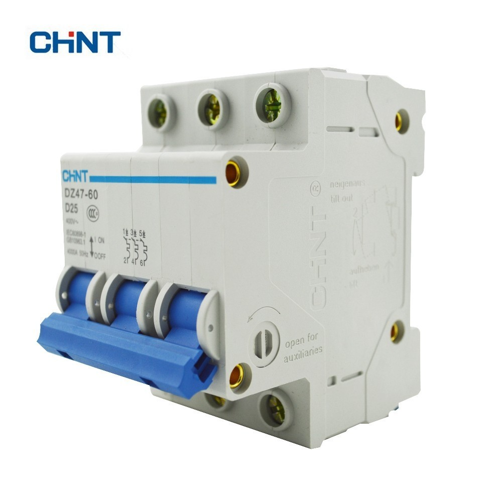 Chint D Type 25a Circuit Breaker Dz47 60 3p D25 Blog Store 20a 400v Onoff Mcb With Cover Buy