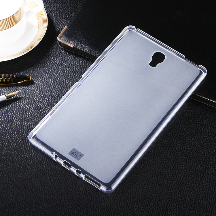 Фото Transparent Soft Matte TPU Gel Cover Skin For Samsung Galaxy Tab S 8.4 T700 T705 Tablet Case silicone cover fundas capa