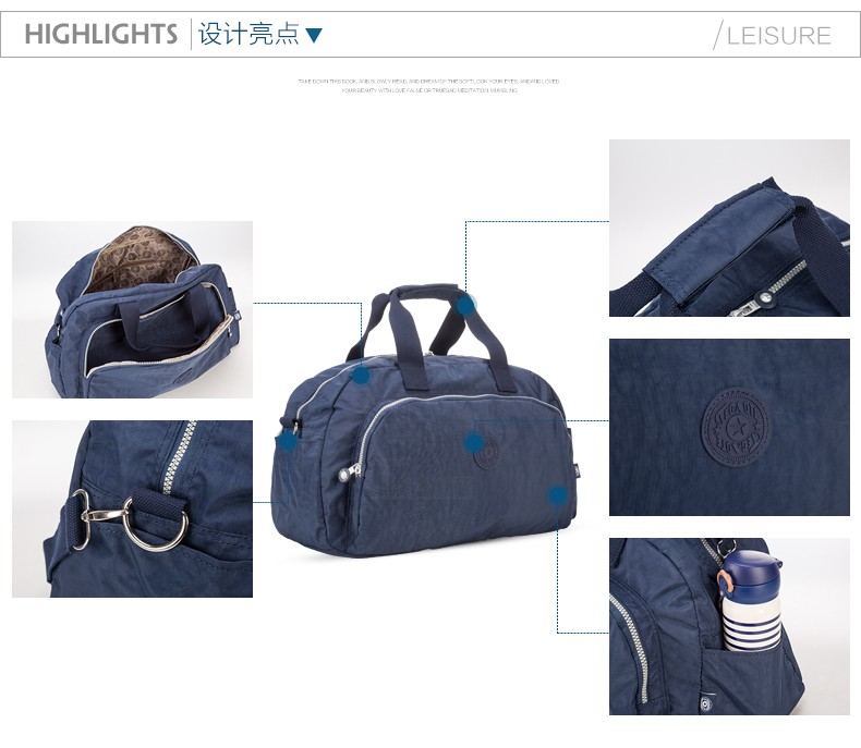 Men Women Outdoor Casual Gym Sport Travel Duffel Bag Waterproof Large Capacity Leisure Crossbody Shoulder Tote Travel Bags (3)