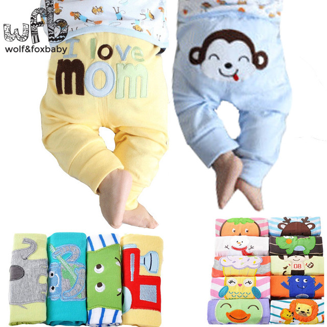 Varejo 5 unidades/pacote 0-dois anos cartoonfor meninos meninas PP calças calças Do Bebê Infantis Roupas 2014 novo frete grátis