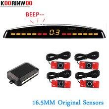 Koorinwoo Originale Auto Parktronic Doppia CPU Sensore di Parcheggio 4 Sonde Sysem cieco Sonde Sistema Rivelatore Auto Reverse Per L'automobile
