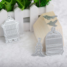 5pcs/Set Bird Cage Metal Cutting Dies Christmas Stencils for DIY Scrapbooking 2018 New Dies Craft Photo Album Decor Embossing(China)