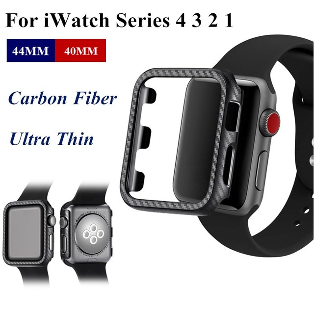 online retailer 1433d abb6d US $1.89 |Ultra Thin Carbon Fiber For Apple Watch 44MM 40MM Hard PC Case  Protective Frame For iWatch Series 4 3 2 1 42MM 38MM Bumper Cover-in ...