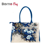 Fleur nationale imprimer sacs pour femmes célèbres marques Numérique Impression belle floral toile sacs à bandoulière bolsa feminina sac à main