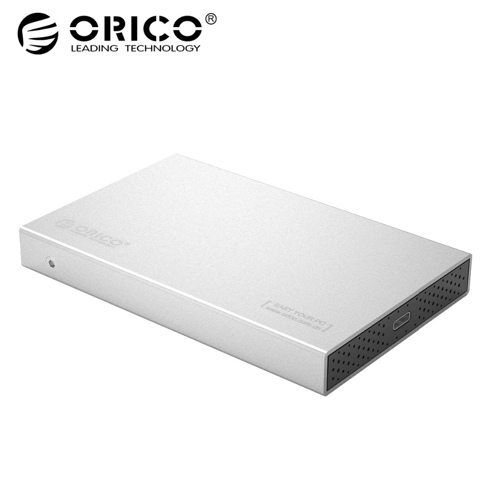 ORICO 2.5 inch Aluminum USB 3.1 to SATA 3.0 Type-C External Hard Drive Enclosure 5Gbps Support 7mm & 9.5mm Hard Disk Drive Case orico aluminum 2 5 3 5 inch hard drive bracket converter