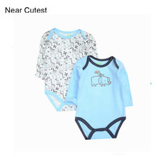 Near Cutest Baby Bodysuits 2017 Spring Baby Newborn Cotton Body Baby Long Sleeve Infant Bebe Boy Girl Clothes(China)
