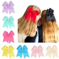 60 pçs/lote, Elogio Bow Laços de Cabelo rabo de cavalo, fita meninas hair bows, uniforme Hairbow com elásticos