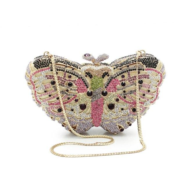 Mujeres mariposa forma de cristal de lujo de noche bolsa con la ...