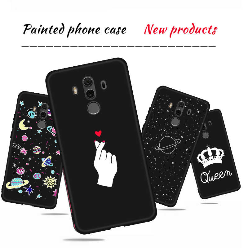 Lovely Heart Painted Case For Huawei Honor 8X Max 8C 8A Nova 4 3 3i Y5 Y6 Prime 2018 Y7 Y9 2019 Silicone Soft TPU Cover Shell